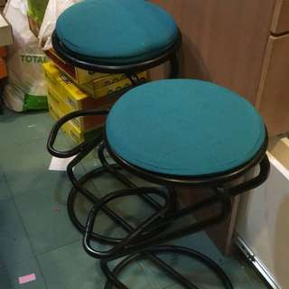 High stools green x2