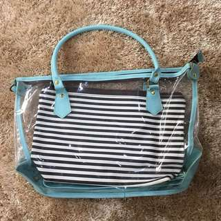 Blue Clear Bag