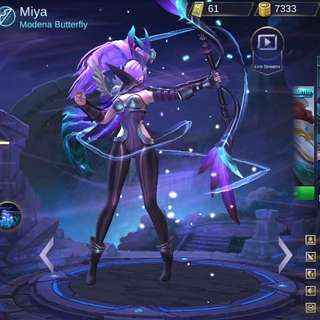 Mobile Legends account with Modeana Butterfly