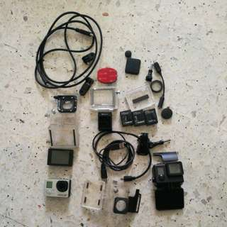 Gopro hero 3+ with a lot of accessories