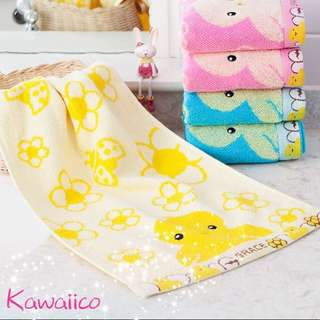 Kawaii kids face towel cotton