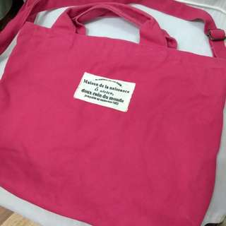 Red Canvass Bag