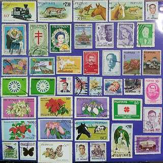 42 pcs Philippines Different Used Stamps