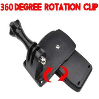 TGP013 360 Degree Rotation Clip Clamp for GoPro SJCAM Xiaomi Xiaoyi Yi Camera