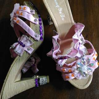 Diy pink heels
