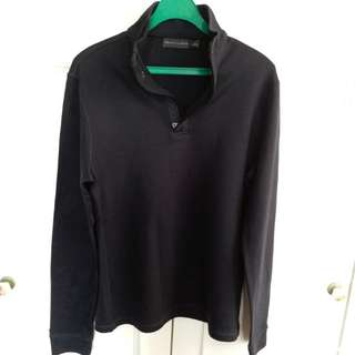 Ralph Lauren Long Sleeved Polo企領深藍色長袖衛衣(Made in Italy)(95%新)
