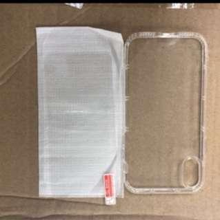 iPhone X 氣墊保護套 + 高清玻璃貼