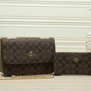 Coach set handbag 2 in 1