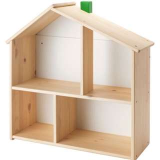 Ikea toy house/ trendy storage shelf (used once for display)