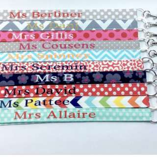 Embroidery lanyards