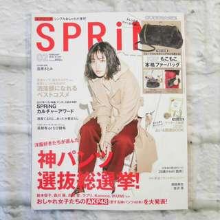 日本雜誌 SPRING 2018年 2月刊 全新