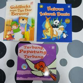 3 Malay assorted story books