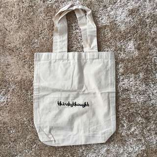 Thirstythought canvas bag