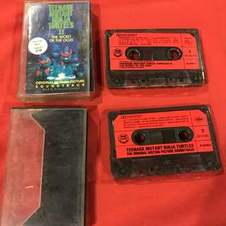 Teenage Mutant Ninja Turtle Movies 1 & 2 Original Soundtrack audio cassette tape