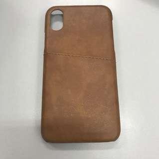 I phone X 真皮手機套 case