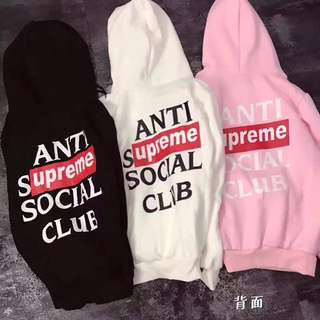 Supreme x ASSC   Black/White/Pink