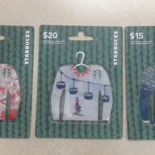 BN STARBUCKS USA/CANADA 2017 UGLY SWEATER CARDS