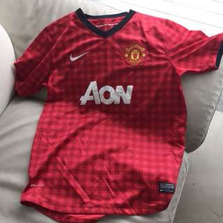 Authentic Manchester United home kit