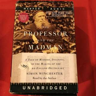 The Professor and the Madman: A Tale of Murder, Insanity, and the Making of The Oxford English Dictionary (audio book cassette tapes)