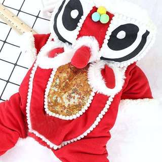 [OOS] (PO) Dog / Cat Lion Dance Chinese New Year Festive Pet Costume Pet Clothing