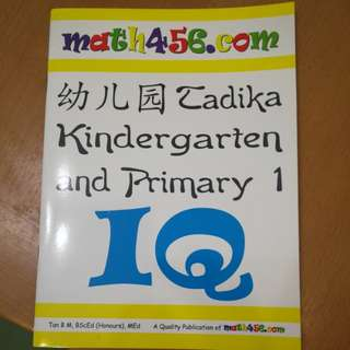 IQ for kindergarten and P1