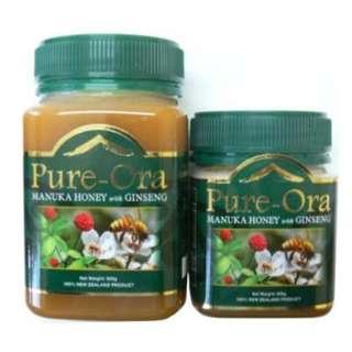 Pure-Ora 麥蘆卡人蔘蜜 (250克/500克)