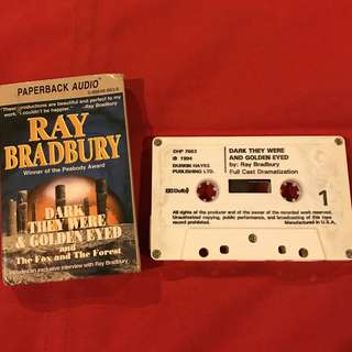 Dark They Were and Golden Eyed (Audio Cassette) by Ray Bradbury Collector's Item