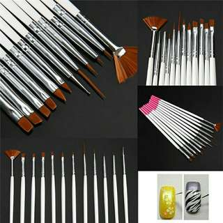 15pcs Professional Nail Art Design Tools Set (Brushes, Pen, Dotting, Drawing, Painting, and Polish)