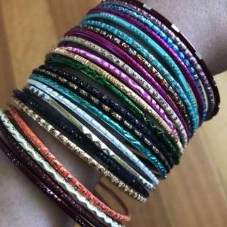 23 colourful bangles