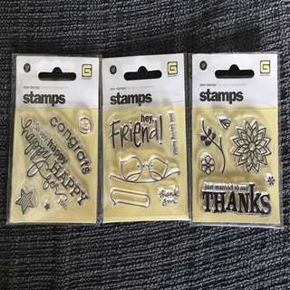 Clear mini stamps