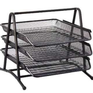 Black Mesh 3 Tier Tray