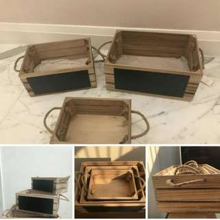 Rush Sale Wooden Crate Set