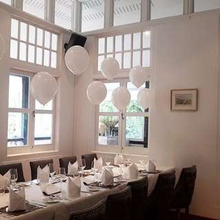 White helium balloon decoration for wedding/ROM