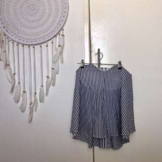 Dissh Grey and White Strapless Top Size 8