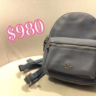 Coach mini backpack baby blue