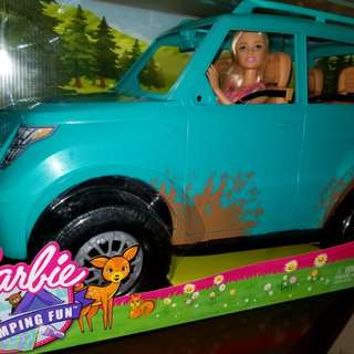 Barbie camping fun doll and vehicle