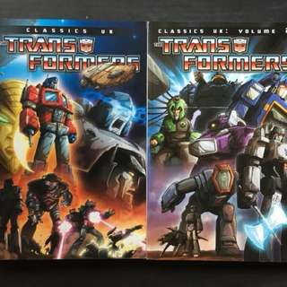 <$50> Transformers Comics Classics UK Volume 1 & 2
