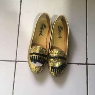 Edberth sepatu gold flat