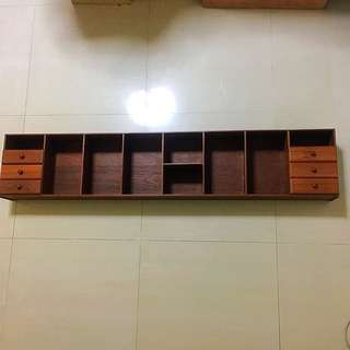 Antique 60's Solid Wooden Shelf