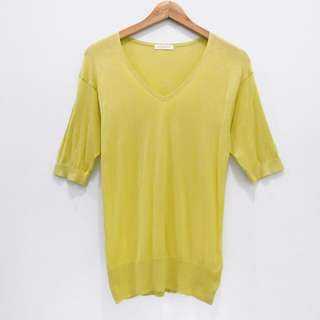 AL564 BLOUSE I.T.S INTERNATIONAL VNECK HALUS KNIT STRETCH YELLOW IMPOR