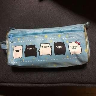 Piggies 🐷 Blue Pencil Case