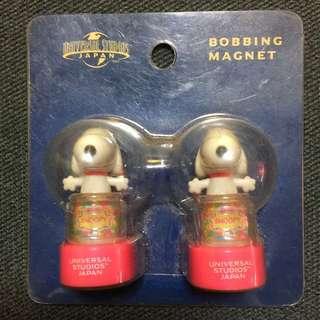 Brand New Authentic Japan 🇯🇵 Universal Studios Snoopy Bobbing Magnet
