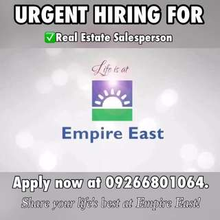 Real Estate Specialist Hiring P14,000 Allowance