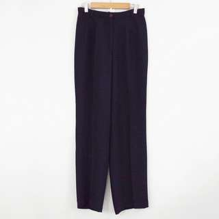 L-XL Black Wide Leg Drapey High-Waisted Pants