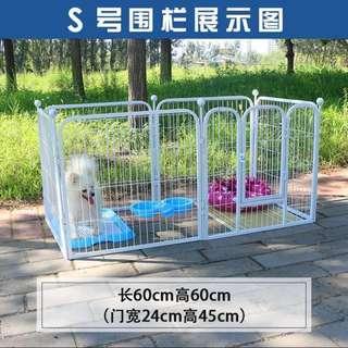 (INSTOCK) Black Dog/pets/rabbit fence cage