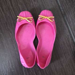 Jelly bunny flat pink shoes