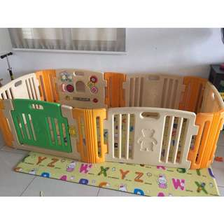 6 Panels Haenim Playard with Playmat and Free Baby Bouncer
