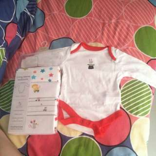 (Mothercare) Unisex Long sleeves rompers