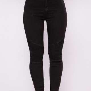 BNWT Fashion Nova Moto Jeans size 5