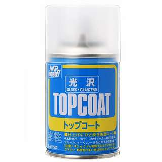 Mr Hobby Topcoat Spray Can Gloss